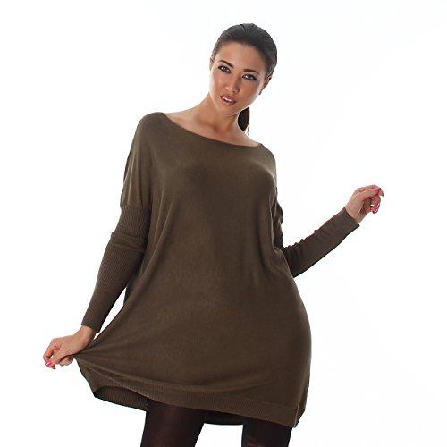 Voyelles - Pull - Femme Vert olive