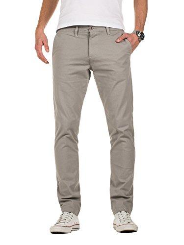 Yazubi Chino Herren Hosen - Modell Kyle by Yzb Jeans - Graue Stoffhose Chinohose für Männer mit Stretch, Grau (Grey Gull 173802), W33/L30