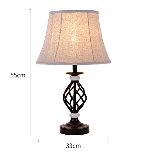 KKK lighting Traditionelle schicke Tischlampe Schlafzimmer kreative Tischlampe Mode Wohnzimmer Studie Schmiedeeisen Nachttischlampe Verarbeitung hervorragende Nachttischlampe -
