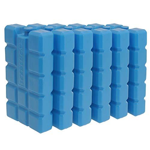 Oramics Kühlakkus Groß und Flach - je Kühlelement 400 ml - Kühlakku für Kühltasche und Kühlbox, Auslaufsichere Kühlpack zum Kühlen von Essen und Getränken (6 Stück) -