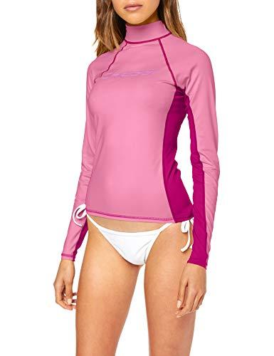 Cressi Damen Lady Long-SL Spezieller Rash Guard aus hochelastischem Gewebe, Lange und Kurze Ärmel, UV-Schutz (UPF) 50+, Rose/Lilas, M -