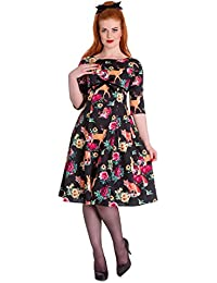 Hell Bunny Hermeline 50er Jahre Rockabilly Pin Up Vintage Stil Kleid