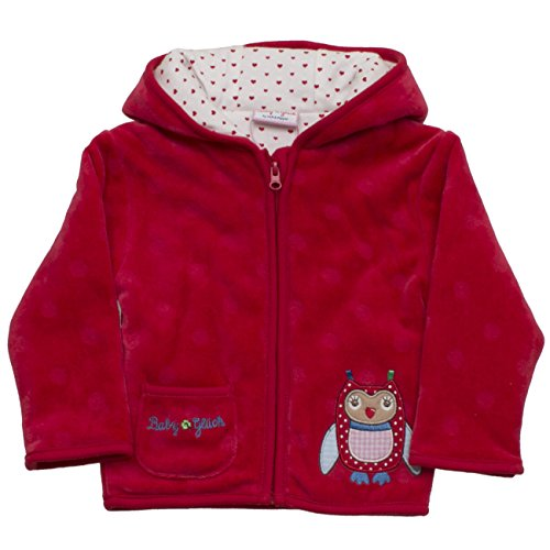 SALT AND PEPPER Baby-Mädchen Sweatshirt BG Jacket Nicki Allover, Rot (Tomato Red 355), 74