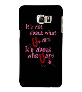 PrintDhaba Quote D-4901 Back Case Cover for SAMSUNG GALAXY NOTE 5 (Multi-Coloured)
