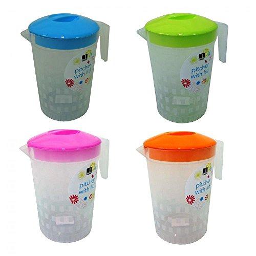 2-x-2-liter-kunststoff-bbq-picknick-wasser-saft-krug-krug-mit-buntem-deckel-pink