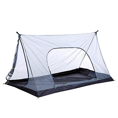 Festnight Outdoor Camping Zelt Ultralight Campingzelt Tent Trekkingzelt Mesh Zelt mit Moskitonetz Insektenschutzmittel für 1-2 Personen