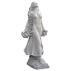 41w0HwYqYnL. SS300  - Design Toscano Flora Divine Patroness of Gardens Roman Goddess Statue, 77.5 cm, Polyresin, Antique Stone