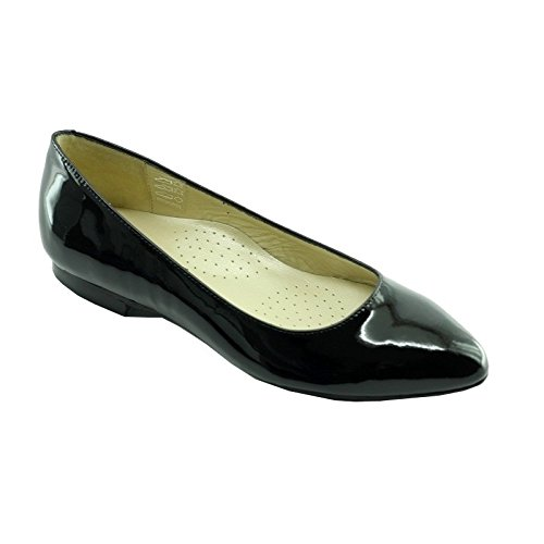 Ballerine Nero Hostess Pointy V-Nero T-41,5