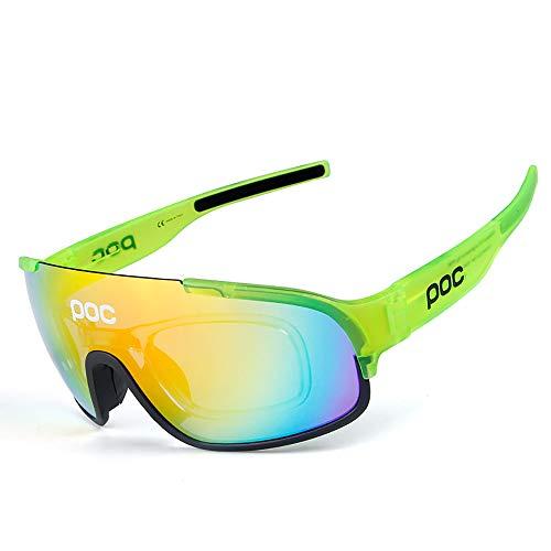 MPNP Fahrradbrillen, Motorradbrille Skibrille Outdoor-Sport-Sonnenbrille Winddichte Sha Reiten Brillen Cabrio-Linsen Adjustable Nase Halterung,G