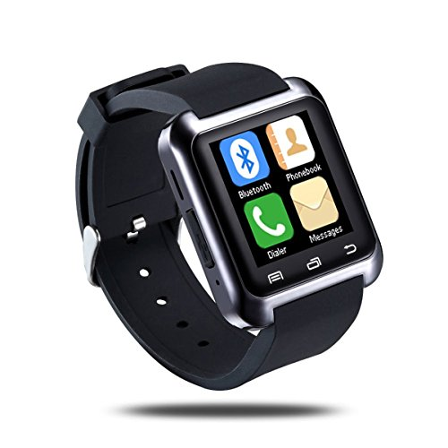 Bbroz Real Smart Watch for Android Phones Iphone Black