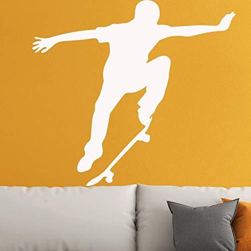 116x40 cm Skateboard Sport Wandaufkleber für Jungen Schlafzimmer Wanddekoration Abnehmbare PVC Kunstwanddekor Wohnzimmer Dekoration Zubehör