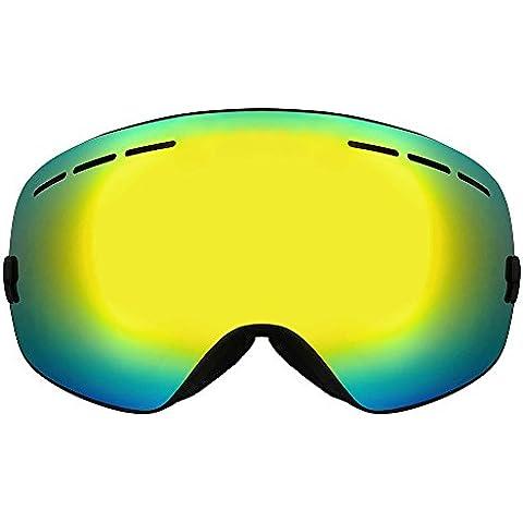 Zyurong® Professional Gafas de esquí y snowboard antivaho dobles con lentes antiniebla y Big esférica