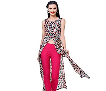 Zastraa Women's Crepe Maxi Dress(ZSTRTOPS0781-S_Multi_Small)