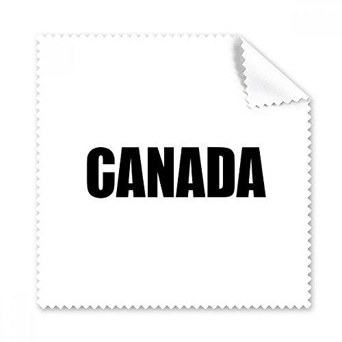 DIYthinker Kanada Land Name Schwarz Brille Tuch Reinigungstuch Telefon Screen Cleaner 5Pcs Geschenk