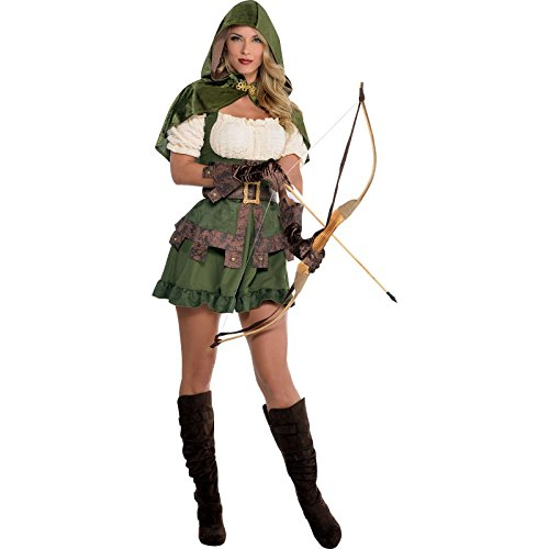 Robin Hood Ladies Fancy Dress Thief Medieval Womens Adults Costume (Women: 8-10) by Amscan