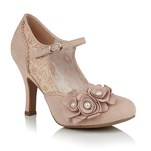 Ruby Shoo Antonia Rose Gold Special Occasion Heels UK 6