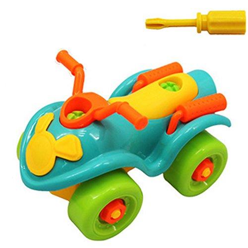 Sungpunet Montage Spielzeug, Kinder Motorrad Montage Spielzeug kleine Werkzeugmaschinen Klasse 3 (Strand Motorrad)