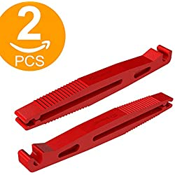 ACT Lot de 2 Lame de verre Fuse Puller Outil d'insertion Standard ATS Car fusibles Box Fup2 Pince à long bec (Rouge)