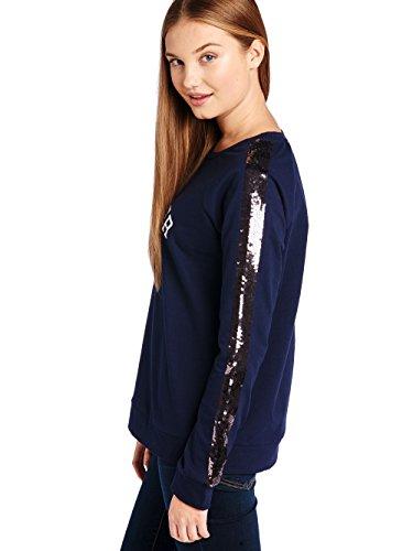 begummy–Pailletten Sweater–Cotton–Mädchen Marine