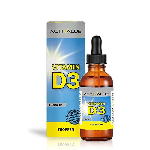 Vitamin D3 Tropfen 1000 I.E. 25mcg | pflanzlich in hochwertigem Kokos-Öl | 100% vegan und besonders hohe Bioverfügbarkeit | Original Dr.med. Wagner | in Deutschland produziert