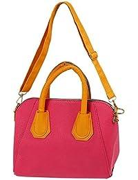 TOOGOO(R) Fashion PU Women Messenger Bags Women Leather Handbags Women's Handbag Shoulder Bag Yellow+Rose