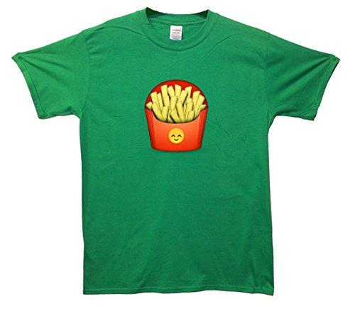 Fries Emoji T-Shirt Grün