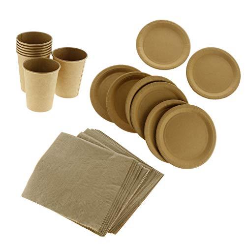 Becher + Teller + Tissueservietten Set Einweggeschirr Set Party Supplies ()