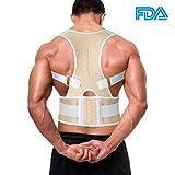 G-Smart - Corrector de espalda, magnético, ajustable, ideal para corregir la...