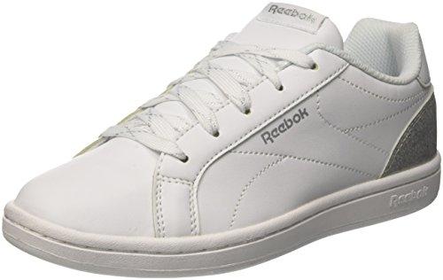 Reebok Royal Complete CLN, Zapatillas de Tenis Para Mujer, Blanco (White/Silver Sparkle 000), 37 EU