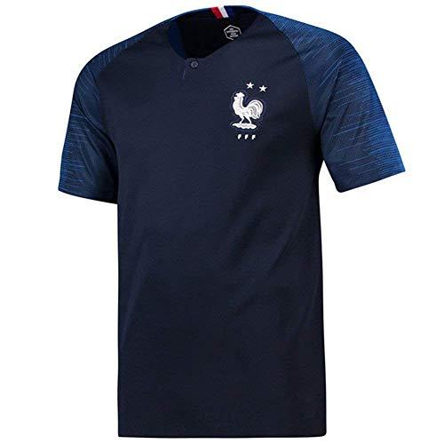 BUY-TO T-Shirt Frankreich WM-Trikot 2018 Französische Nationalmannschaft Fußballkleidung Männer und Frauen,Blue,S(165-175CM)