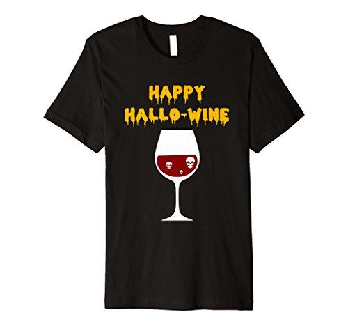 Happy hallo-wine hallowine Halloween Wein T-Shirt