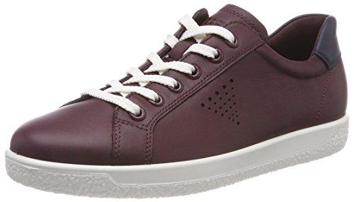 Ecco Damen Soft 1 Ladies Sneaker, Rot (Wine 1278), 40 EU