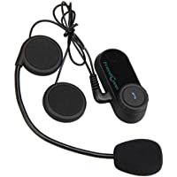 Freedconn Auriculares Intercomunicador Bluetooth de Casco de Motocicleta Moto Intercom Headset 800M, (Soporta FM