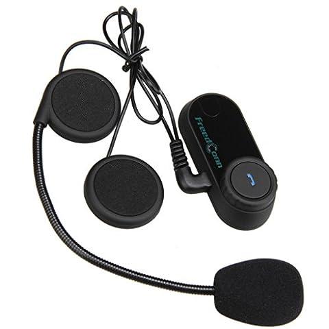 Freedconn T-COM VB - Motorrad Bluetooth Gegensprechanlage Motorrad Intercom Headset (1 x Set, 800m, 10 Stunden, bis zu 3 Reiter, für Motorradhelm Skihelm)