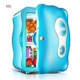 Jolly Mini frigorífico para Autos Refrigeración y calefacción Ahorro de energía de Doble Uso silencioso para el hogar y el automóvil (Color : Azul)