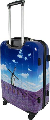 normani® Hartschalen-Kofferset aus ABS - Trolley, Koffer, Reisekoffer Lavendel