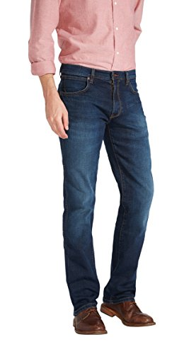 Wrangler Herren Straight Leg Jeans ARIZONA STRETCH, Blau (COOL HAND 18), 38W / 36L (Straight Denim Leg Stretch Jeans)