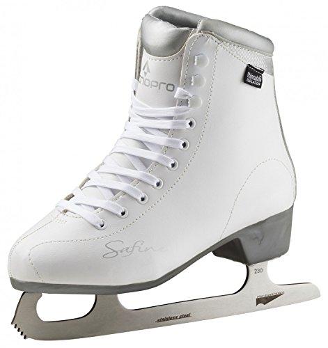 Tecnopro Damen Eiskunstlauf-Schuh Marina 1.0 Schlittschuhe, Weiß/Silber, 38 (Damen-schlittschuhe Weiße)