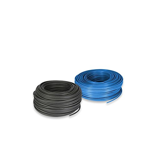 Câble électrique de Lot de 25 mm 5 MT Bleu et 5 Noir