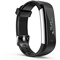 ALLOYSEED Fitness Tracker, Activity Watch, Sleep Monitor, Pedometer Calorie Counter Waterproof Touch Screen Smart Bracelet for Women, Men, Kids iPhone Android (Black)