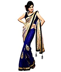 Bhuwal Fashion Womens Net Saree(BF9086_Blue)