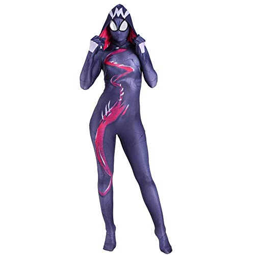 gikmhyb Spider-Gwen Kostüm Cosplay Body Overalls Frauen Spider Man Kostüm Halloween Weihnachten Bühnenkleidung Movie Game Role Play,Children-Small (Spider Kostüme Frauen)