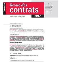 Revue des contrats, N° 1, janvier 2017 :