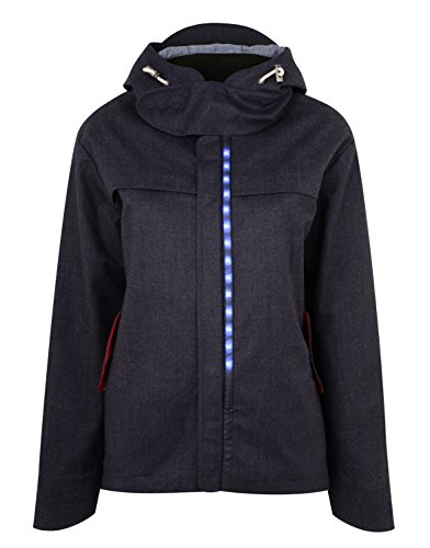 LUMO Women's Regents Parka Jacket, Grey Blue, Large