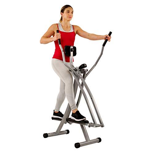 Sunny Health & Fitness SF-E902 Elliptical Cross Trainer Air Walk Trainer Glider w/ LCD Monitor
