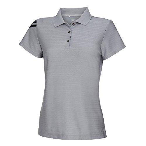Adidas Damen Corporate Polo-Shirt / Polo-Hemd mit 3 Streifen, Kurzarm (XS) (Grau)