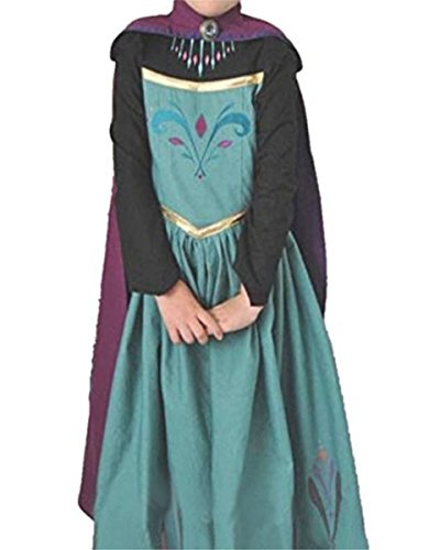 Ramonala Eiskönigin Prinzessin Kostüm Kinder Glanz Kleid Mädchen Weihnachten Verkleidung Karneval Party Halloween Fest, Blau und Lila, Gr. 140= Körpergröße 140cm (Kostüm Zombie-prinzessin Kinder)