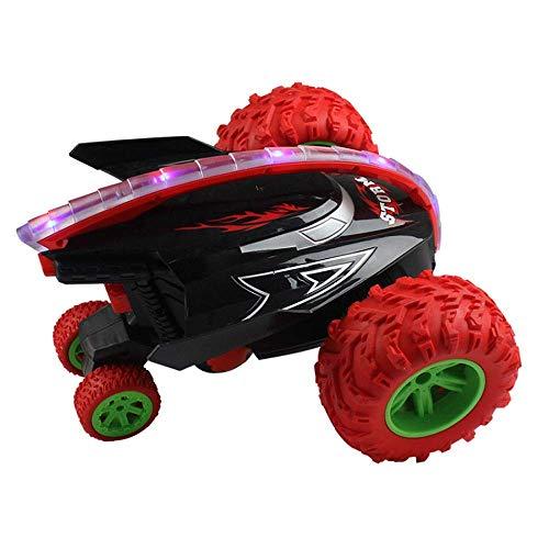 LIANYANG Auto RC Auto acrobatica a 360 °; Ruota a triangolo rotante da 2,4 GHz 4 Forza motrice Telecomando Automobili giocattolo con luci fredde e pneumatici in gomma Modello Testa di squalo Ragazzi/R