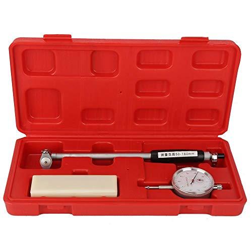 Mechanische Messuhr Set, 50-160MM Dial Bore Gauge Innendurchmesser Skala Bohrungsmessgerät Genauigkeit von 0,01 zum Messen der Innenabmessungen von Werkstücken