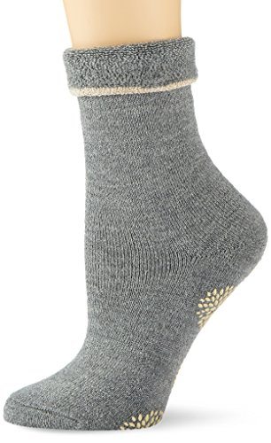 ESPRIT Damen Stoppersocken Cosy Homepads, Gr. 39/42, Grau (Middle Grey Meliert 3530)